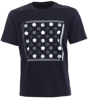Blk Zegna Crew Neck Tee Men