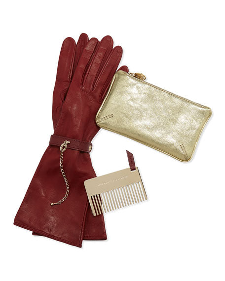Charlotte Olympia Bogart Satchel with Matching Gloves