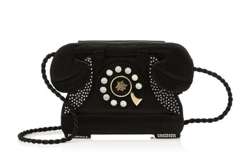 "Charlotte Olympia ""Dial to Accessorise"" satin bag"