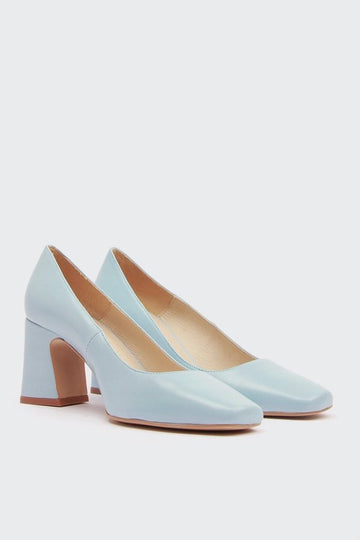 Intentionally Blank Monaco Heel - Robin blue