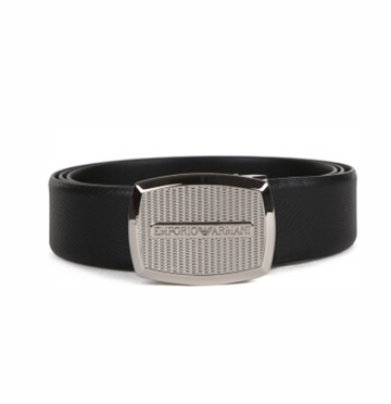 Emporio Armani Adjustable Black Belt