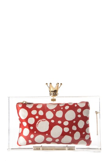 Charlotte Olympia Clear Pandora Royal Lucite Resin Clutch
