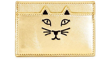Charlotte Olympia Feline Card Holder in Gold