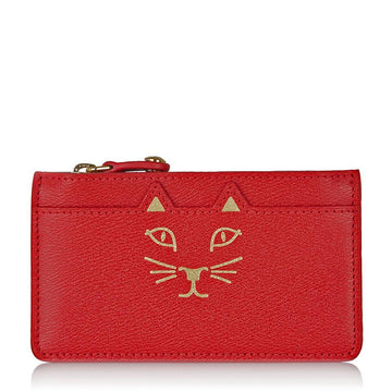 Charlotte Olympia Red 'feline' Coin Purse Wallet