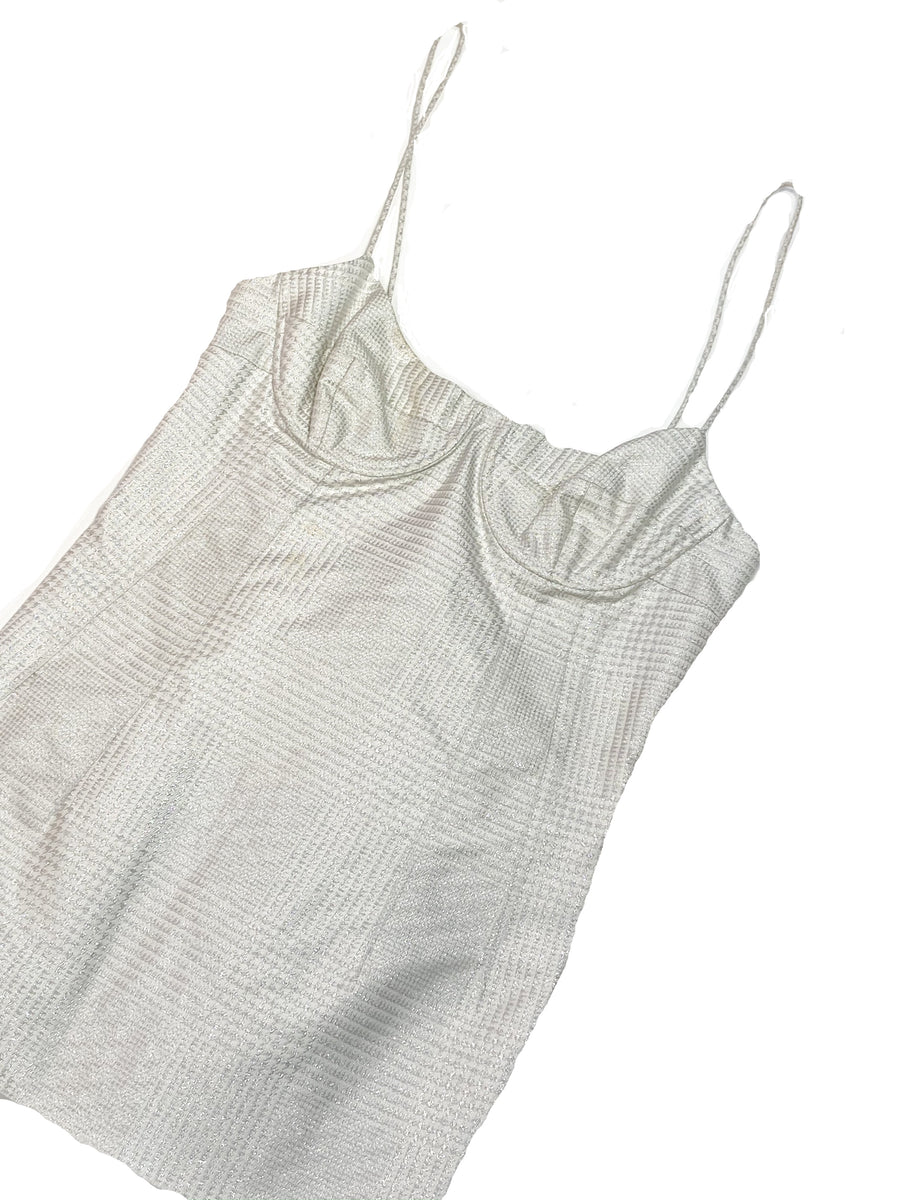 Wes Gordon 2-07 Silk Linen top