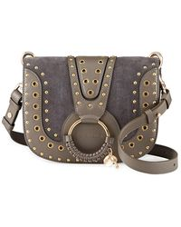 See by Chloe Hana Studded Suede Shoulder Bag