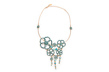 Capri Cascade Necklace in Emerald
