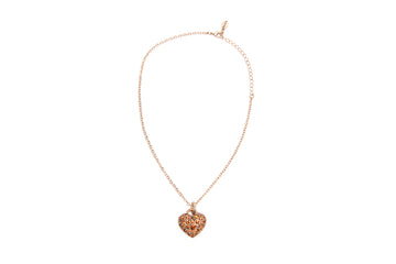 Pave Crystals Heart Necklace