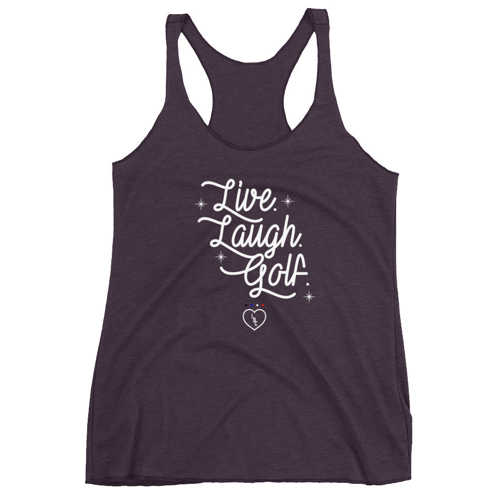 Live. Laugh. Golf. Women's Racerback Tank