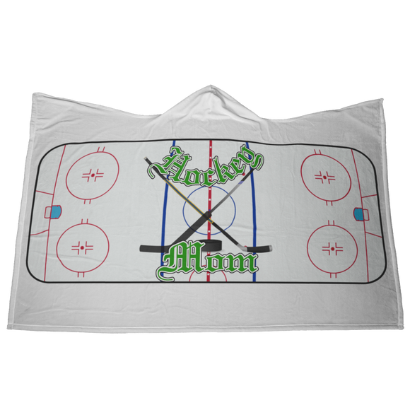 Hockey MOM HOODED BLANKET [UNIQUE, LIMITED EDITION]