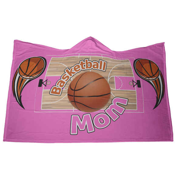 Basketball Mom Hooded Blanket - Pink [Unique, Limited Edition]