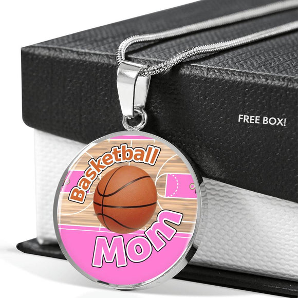 BASKETBALL MOM LUXURY NECKLACE - PINK [UNIQUE, LIMITED EDITION]