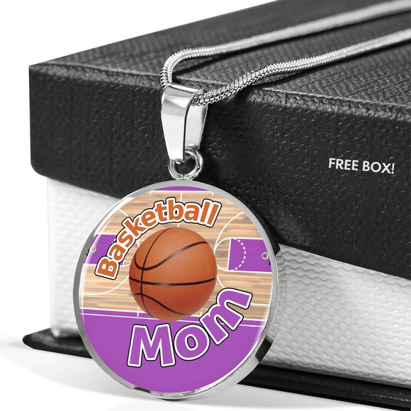 BASKETBALL MOM LUXURY NECKLACE - PURPLE [UNIQUE, LIMITED EDITION]