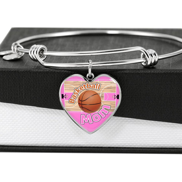 BASKETBALL MOM Adjustable Luxury Bangle - Pink [UNIQUE, LIMITED EDITION]