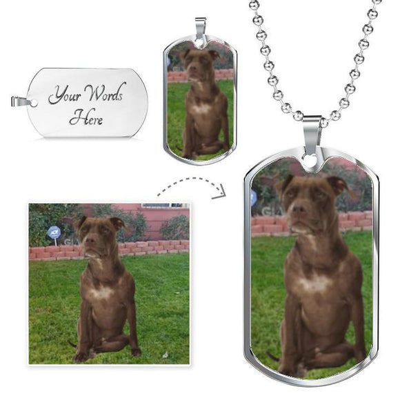 Pit Bull Dog Tags [You Personalize]