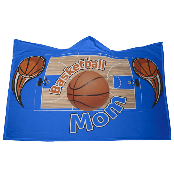 BASKETBALL MOM HOODED BLANKET - Blue [UNIQUE, LIMITED EDITION]