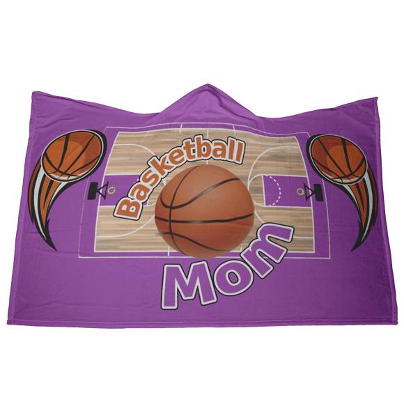 BASKETBALL MOM HOODED BLANKET - Purple [UNIQUE, LIMITED EDITION]