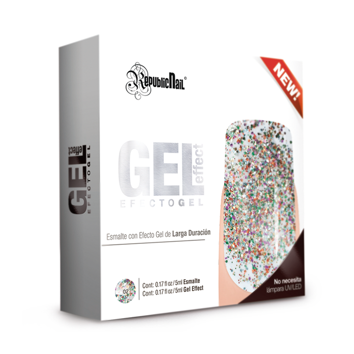 "Gel Effect ""Carnival"" - Republic Cosmetics Tienda de cosmeticos"