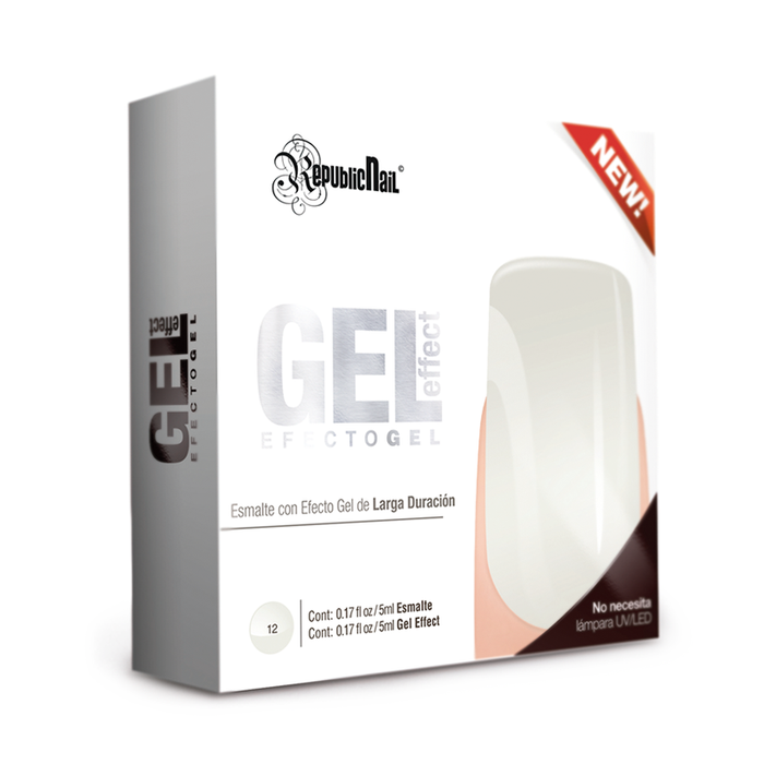 "Gel Effect ""French White"" - Republic Cosmetics Tienda de cosmeticos"