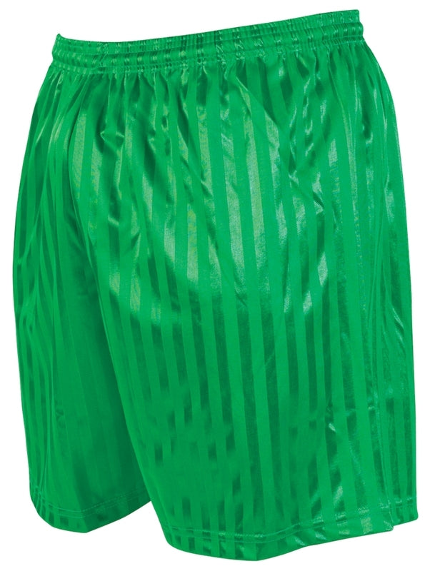 Precision Striped Continental Football Shorts Adult -Green-DS