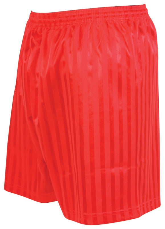 Precision Striped Continental Football Shorts Adult -Red-DS