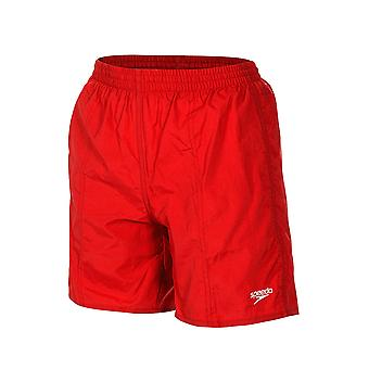 Boys Solid Tactel Short - Red
