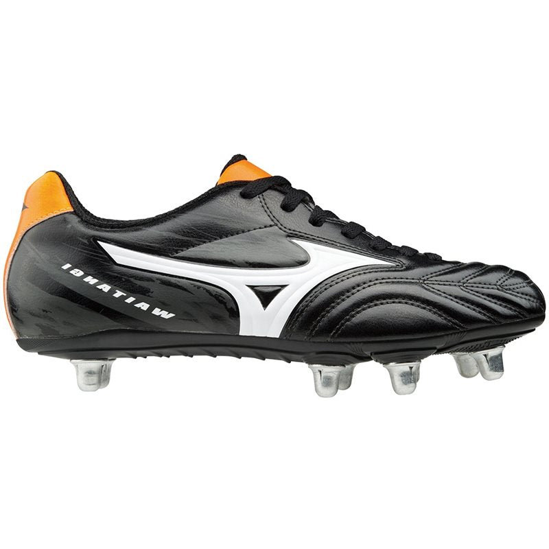 Waitangi CL Rugby Boots - Black/White/Orange