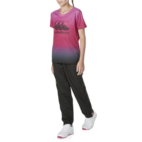 Girls Kids Tapered Cuff Woven Pant - Jet Black