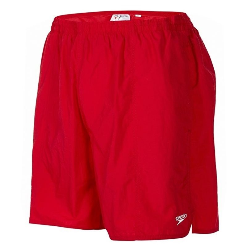 Solid Leisure 16 Water Shorts - Red