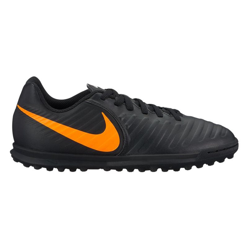 Jr. LegendX 7 Club (TF) Astro Turf Trainers - Black/Orange