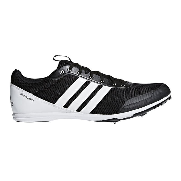 adidas Distancestar Track Running Spikes - Black/White