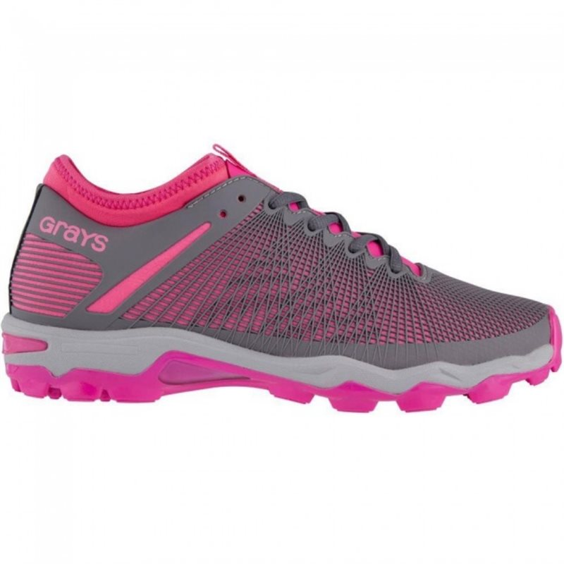 Cage AST Hockey Shoes - Grey/Pink