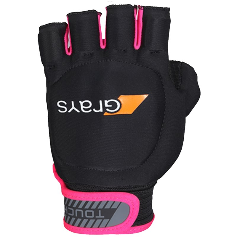 Touch Glove Left Hand - Black / Fluo Pink