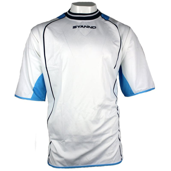 Stanno S/S Football Jersey - White/Sky