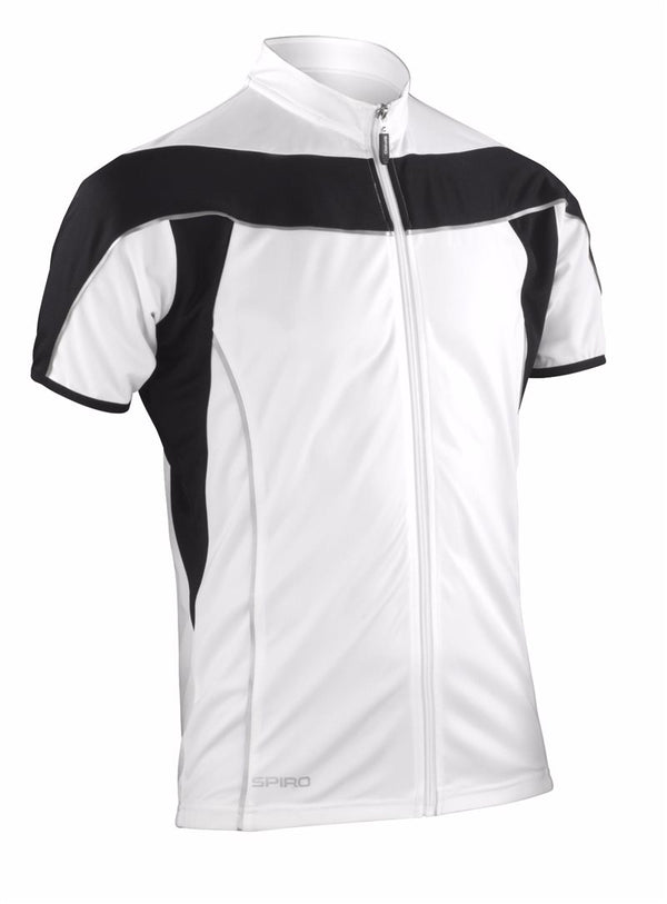 Spiro Mens Cool Dry Full Zip S/S Cycling Jersey