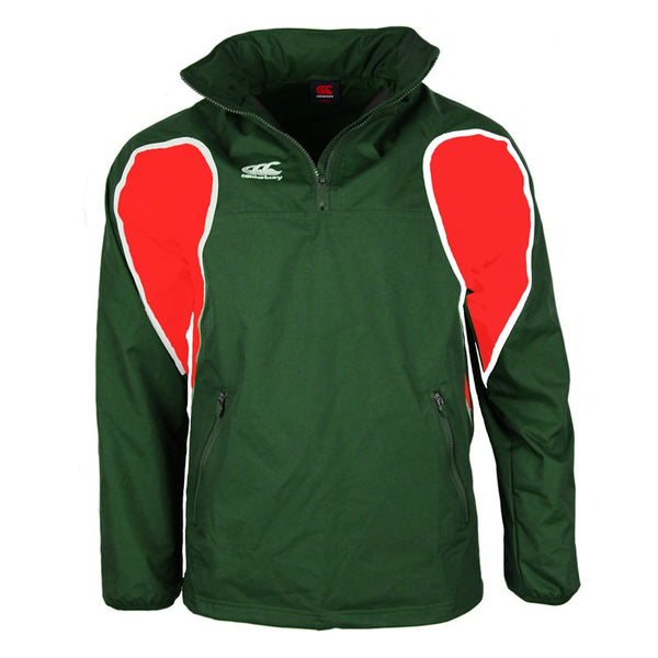 Canterbury 1/4 Zip Rain Jacket - Forest/Red
