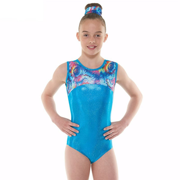 Tappers and Pointers Meteor Sleeveles Gym Leotard