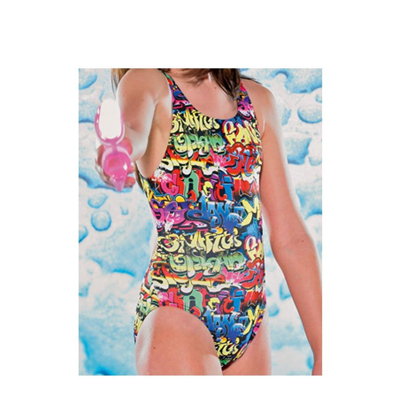 Girls Scribble Pacer SQ Back Swimsuit