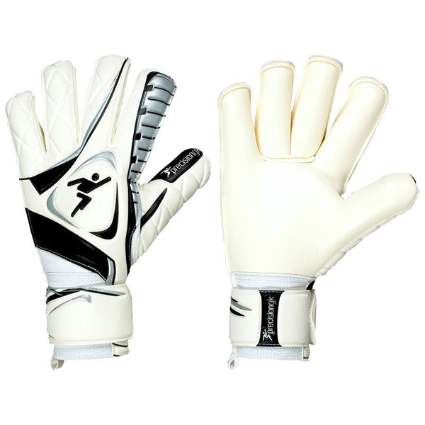 Precision Training Brasileirao Contact Roll Finger GK Gloves - White/Black
