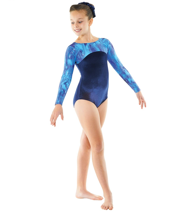 Tappers and Pointers Longsleeve Gym Leotard - Navy