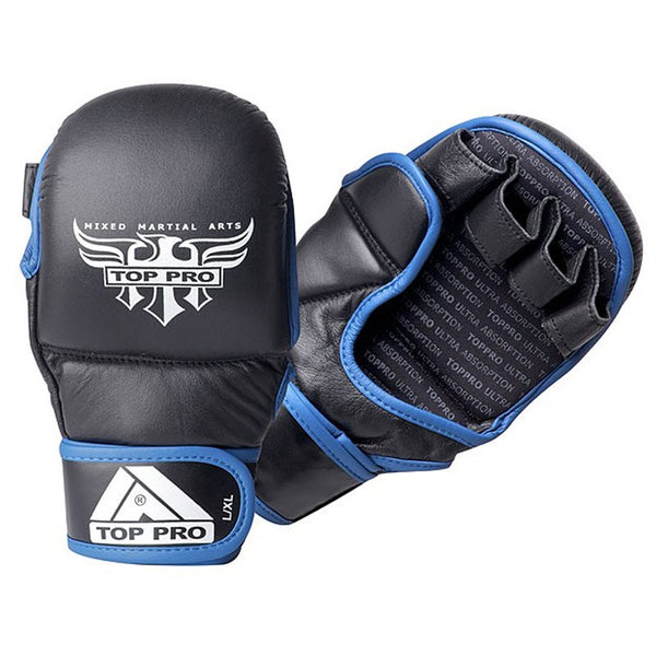 Top Pro Storm 7oz MMA Glove - Black / Blue