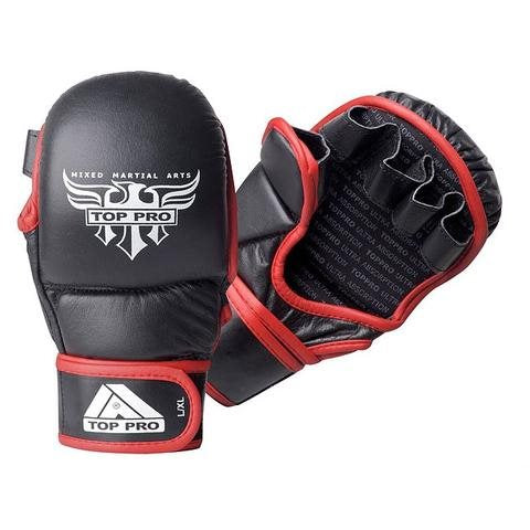 Top Pro Storm 7oz MMA Glove - Black / Red