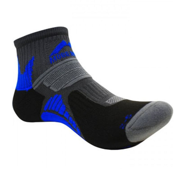 More Mile Moscow Running Sock  - Black/Blue