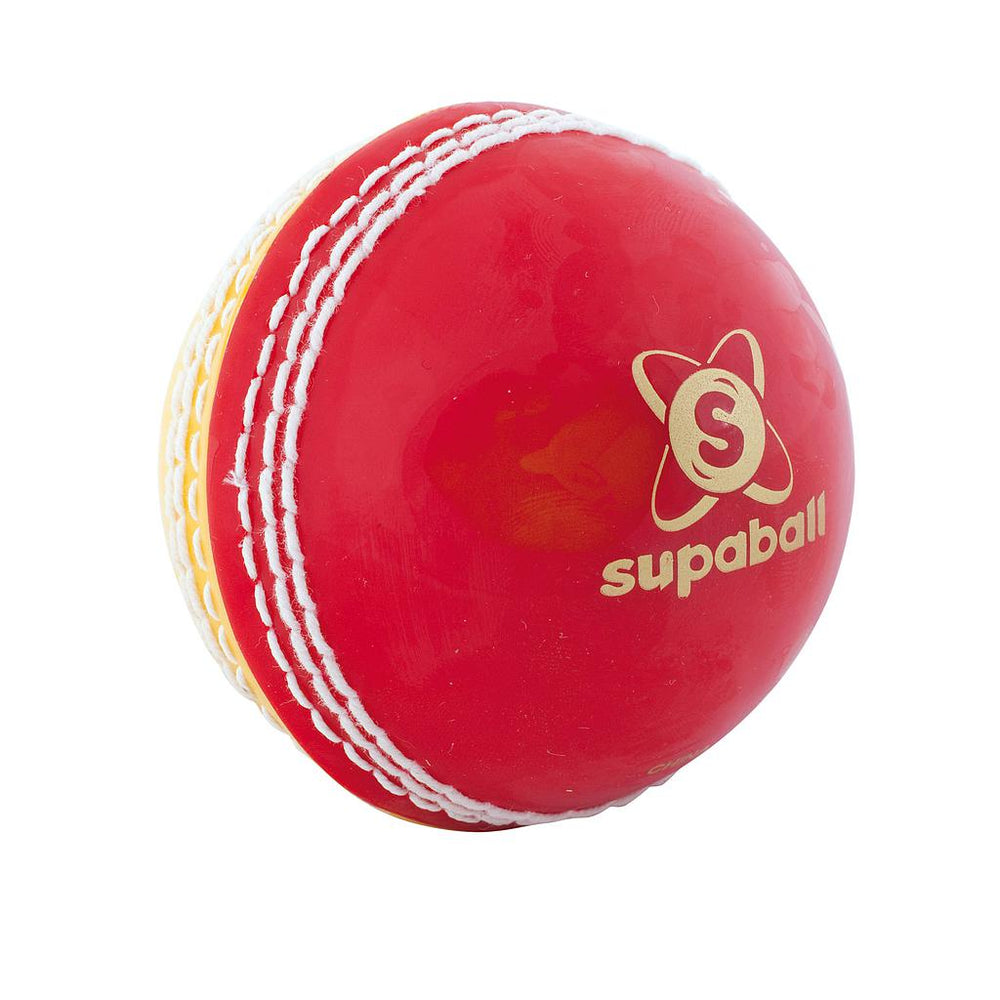 Readers Supaball Training Cricket Ball - Red / Yell -DS