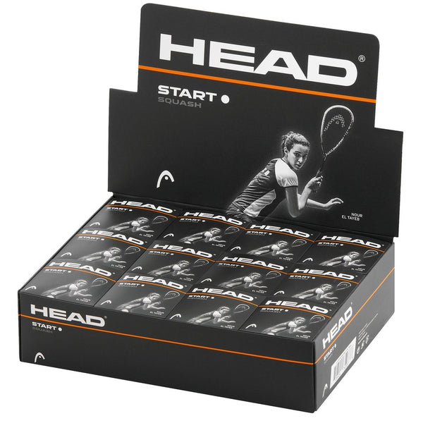 Head Start Squash Balls - Single White Dot - Box of 12 -DS