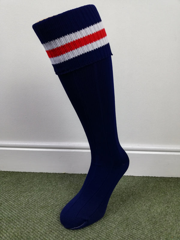 Orion Contrast Sock - Navy/White/Red