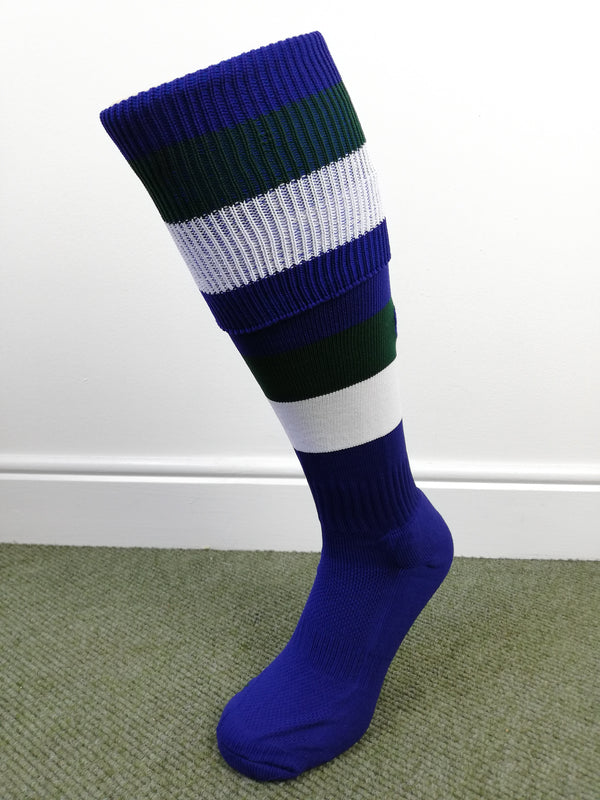 CCC Hooped Sock Royal/ White /Forest