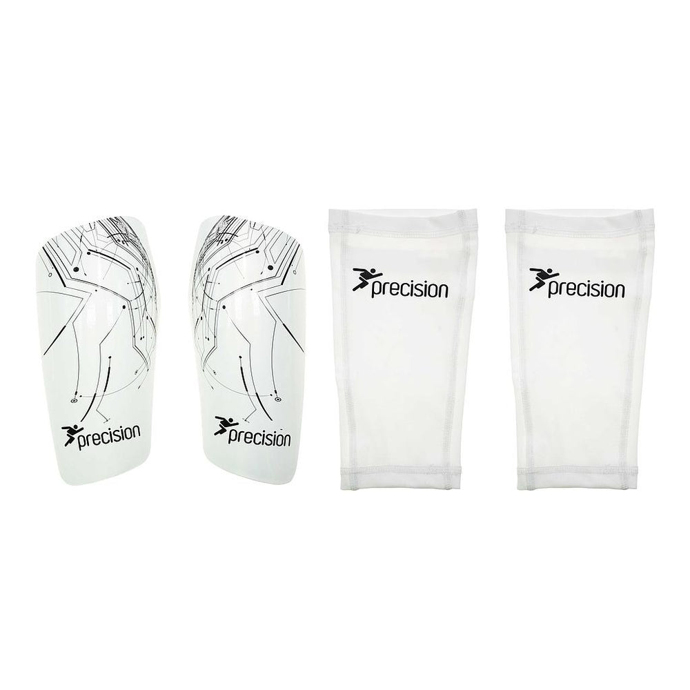 Precision Pro Matrix Shinguards White  -DS