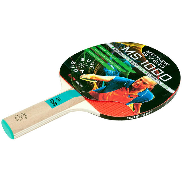 Sure Shot Matthew Syed 1000 Table Tennis Bat -DS