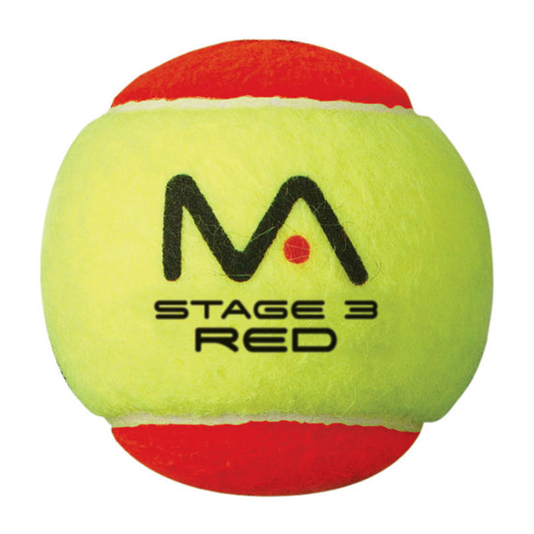 MANTIS Stage 3 Red Tennis Balls (Pack of 12) -DS